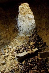 A Tora Bora cave used by al-Qaeda forces in December 2001.